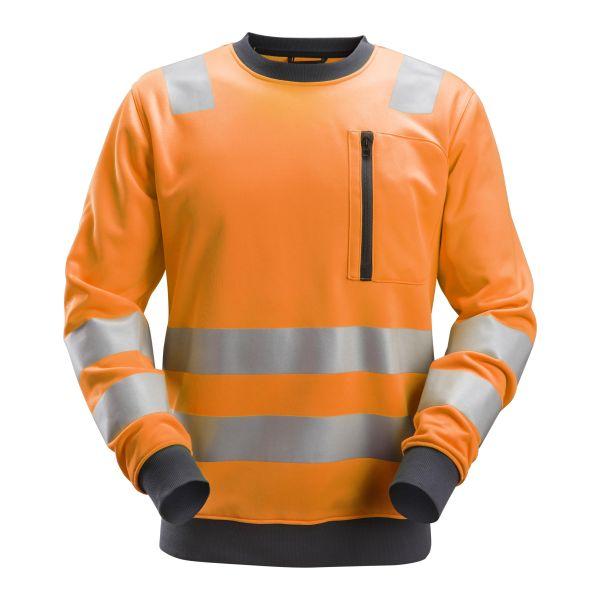 Snickers 8037 AllroundWork Fleecepusero heijastimet, oranssi XS