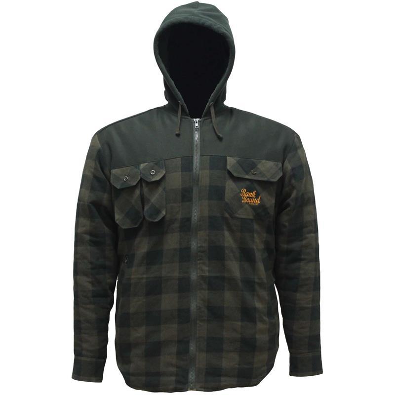 Prologic Bank Bound Shirt Jacket M Green/Black - Vannavstøtende jakke