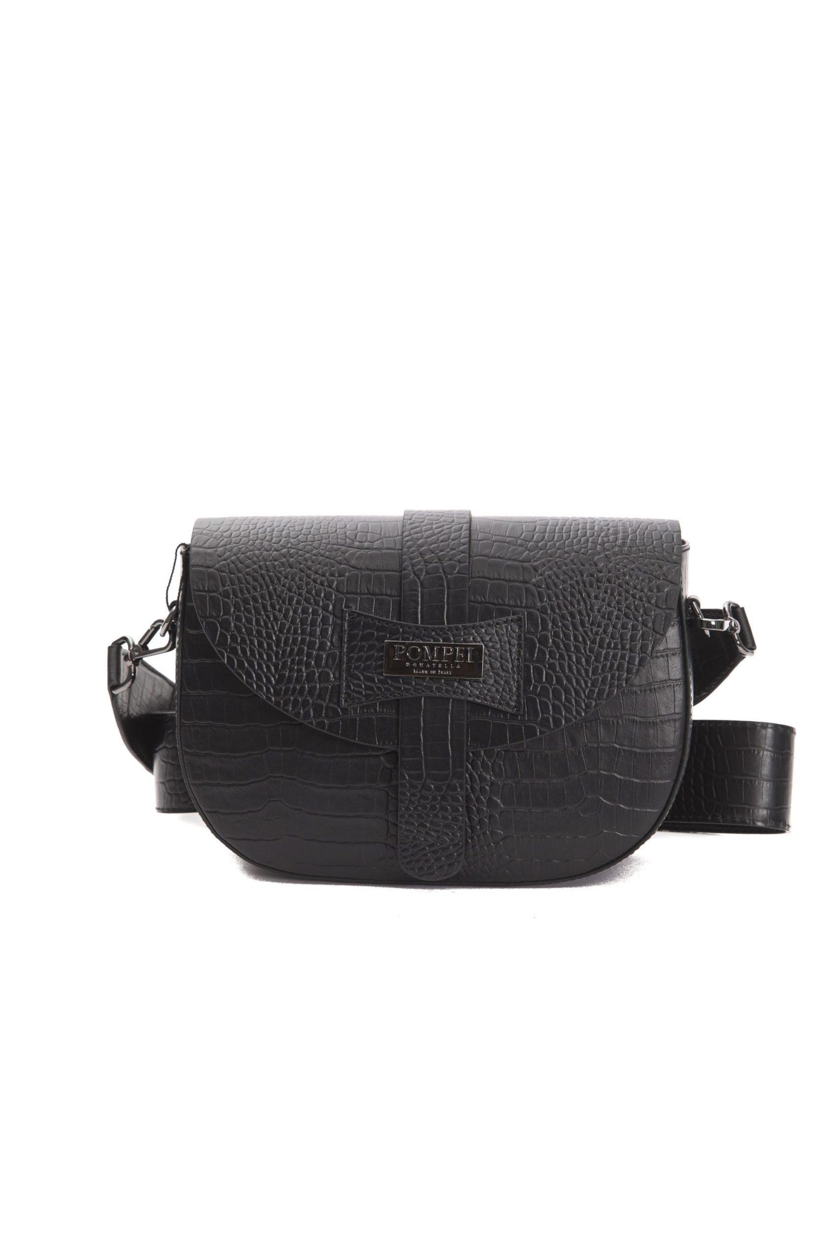 Pompei Donatella Women's Nero Crossbody Bag Black PO1004905