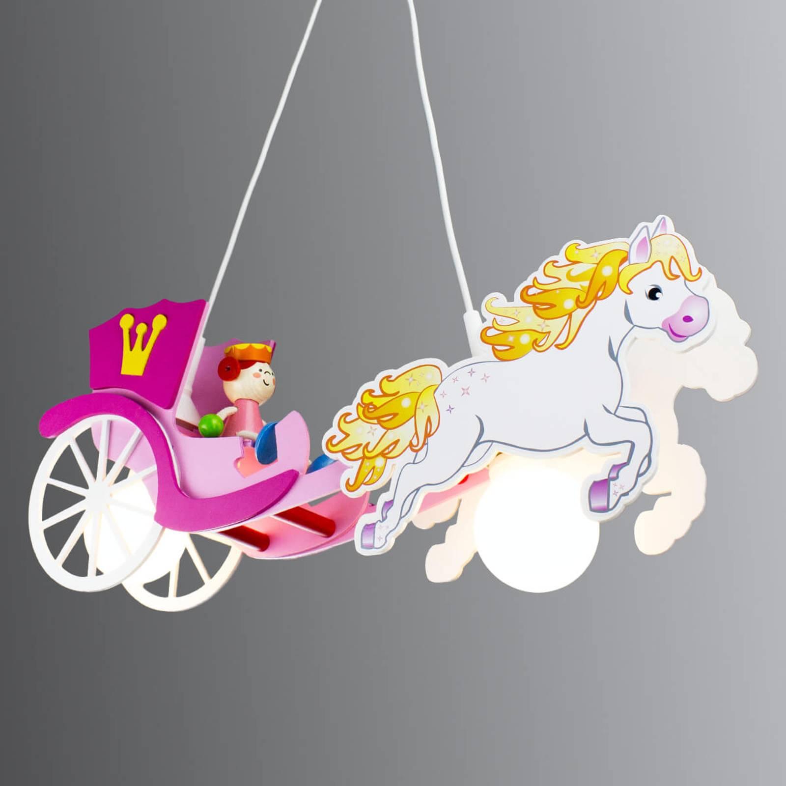 Prinsessa-riippuvalo, hevonen ja vaunut