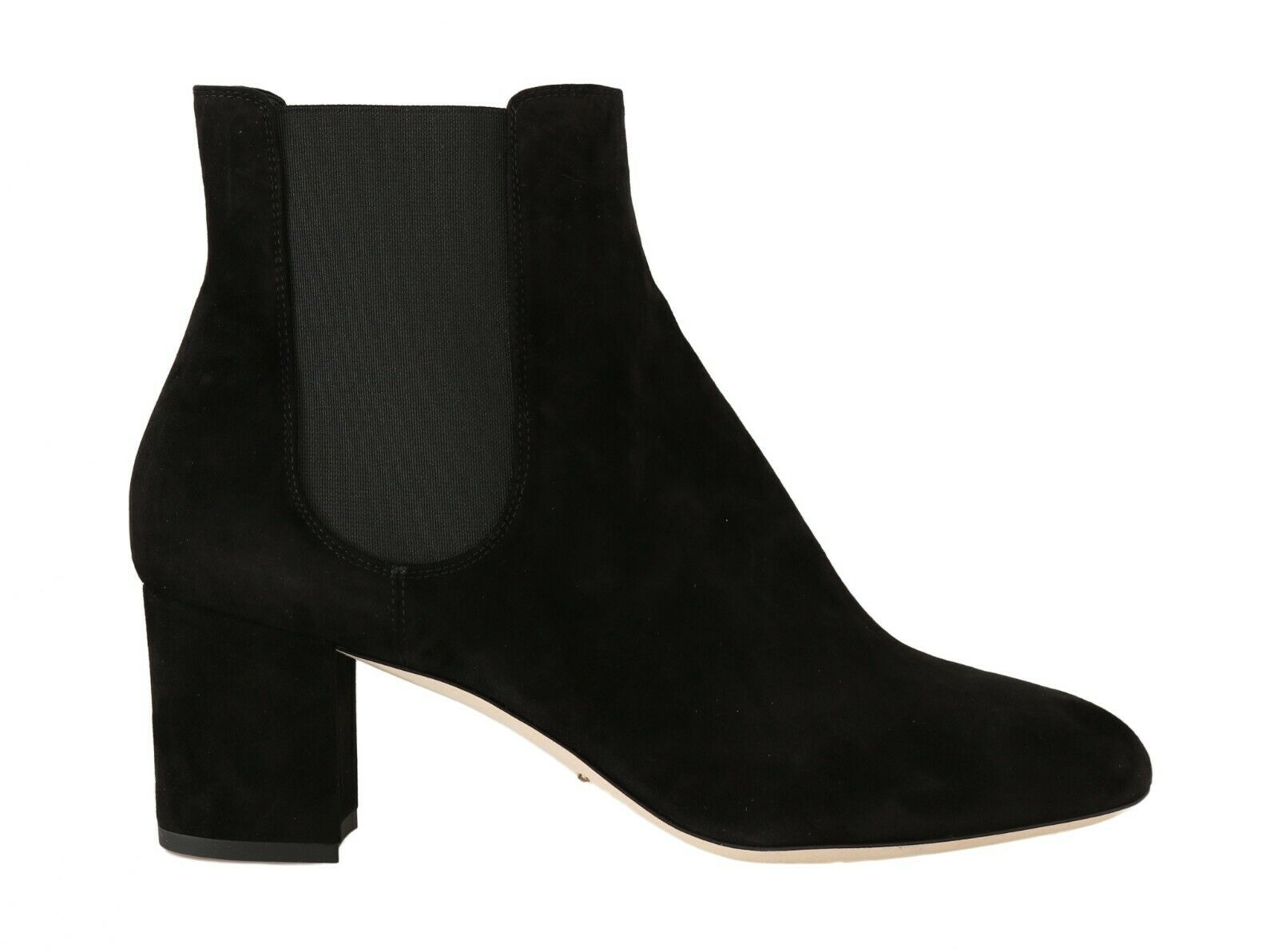 Dolce & Gabbana Women's Suede Chelsea Heels Boots Black LA5598 - EU36.5/US6
