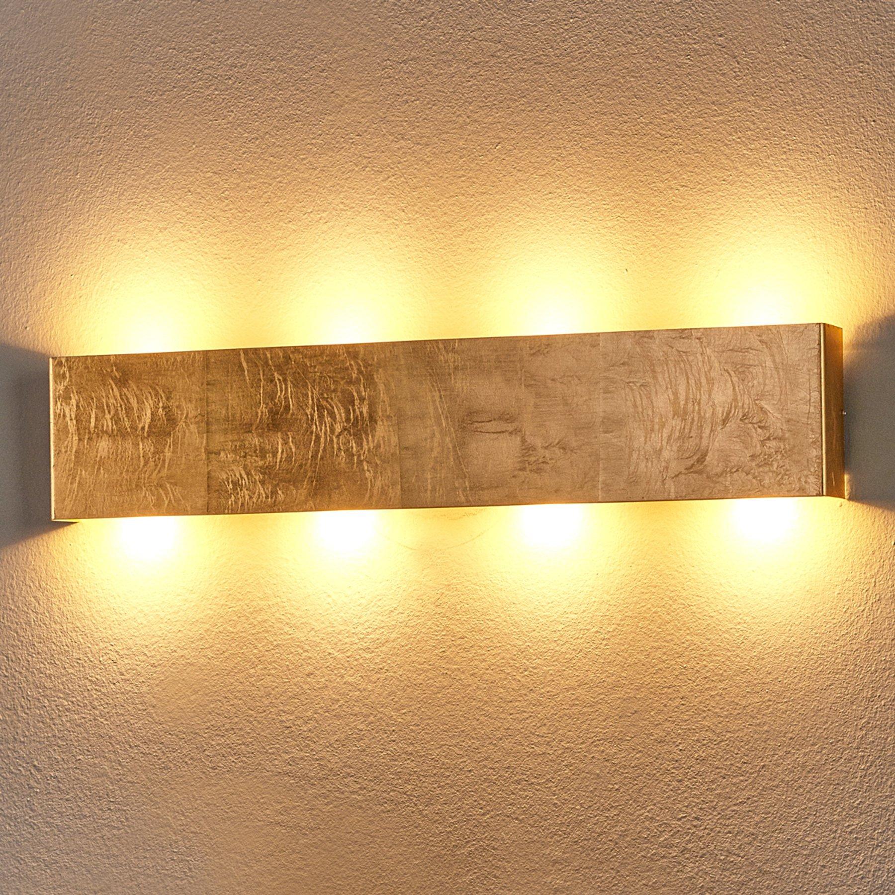 Maja - antikk gullfarget LED-vegglampe, dimbar