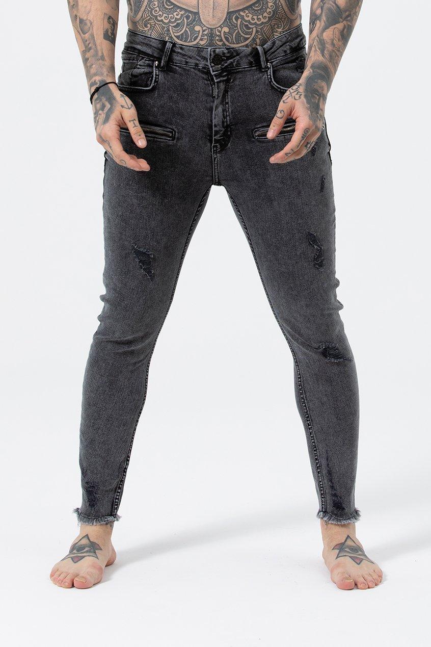 Men's Kurt Skinny Fit Jeans - Light Grey Wash, 30 inch waist