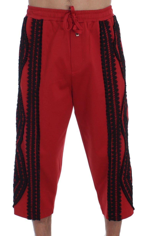 Dolce & Gabbana Women's Torero 3/4 Pants Shorts Red GTT10022 - IT46 | S