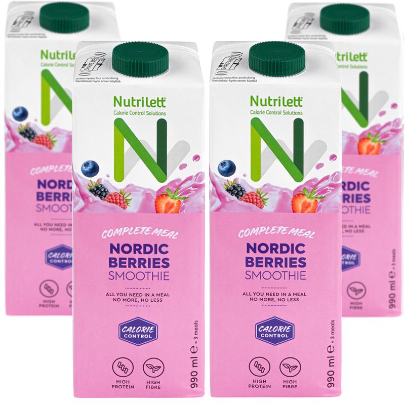 Måltidsersättning Nordic Berries 4-pack - 67% rabatt