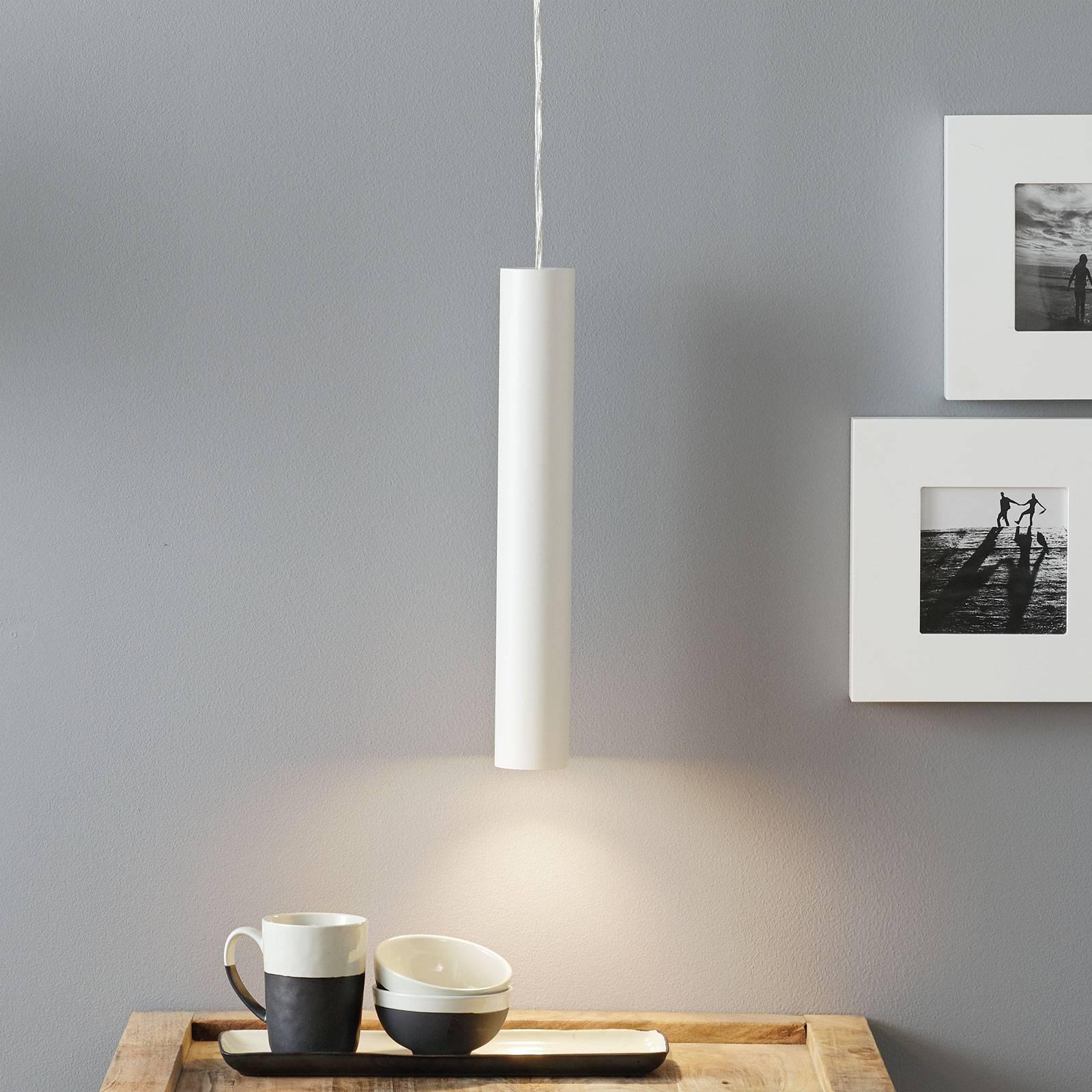 Lucande Luana -riippuvalaisin 40 cm valkoinen