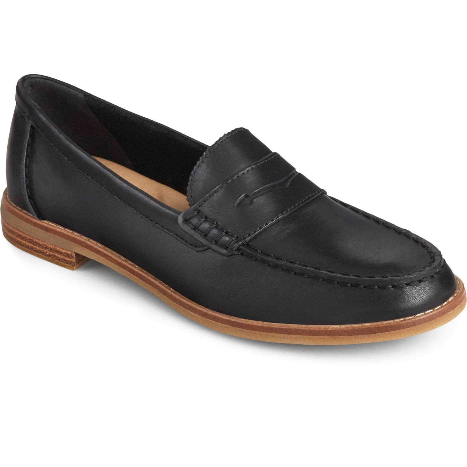 Sperry Women's Seaport Penny Loafer Various Colours 32403 - Black 7