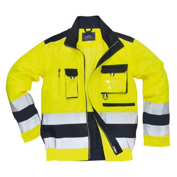 Portwest Lille Jacka Hi-Vis gul/marinblå S