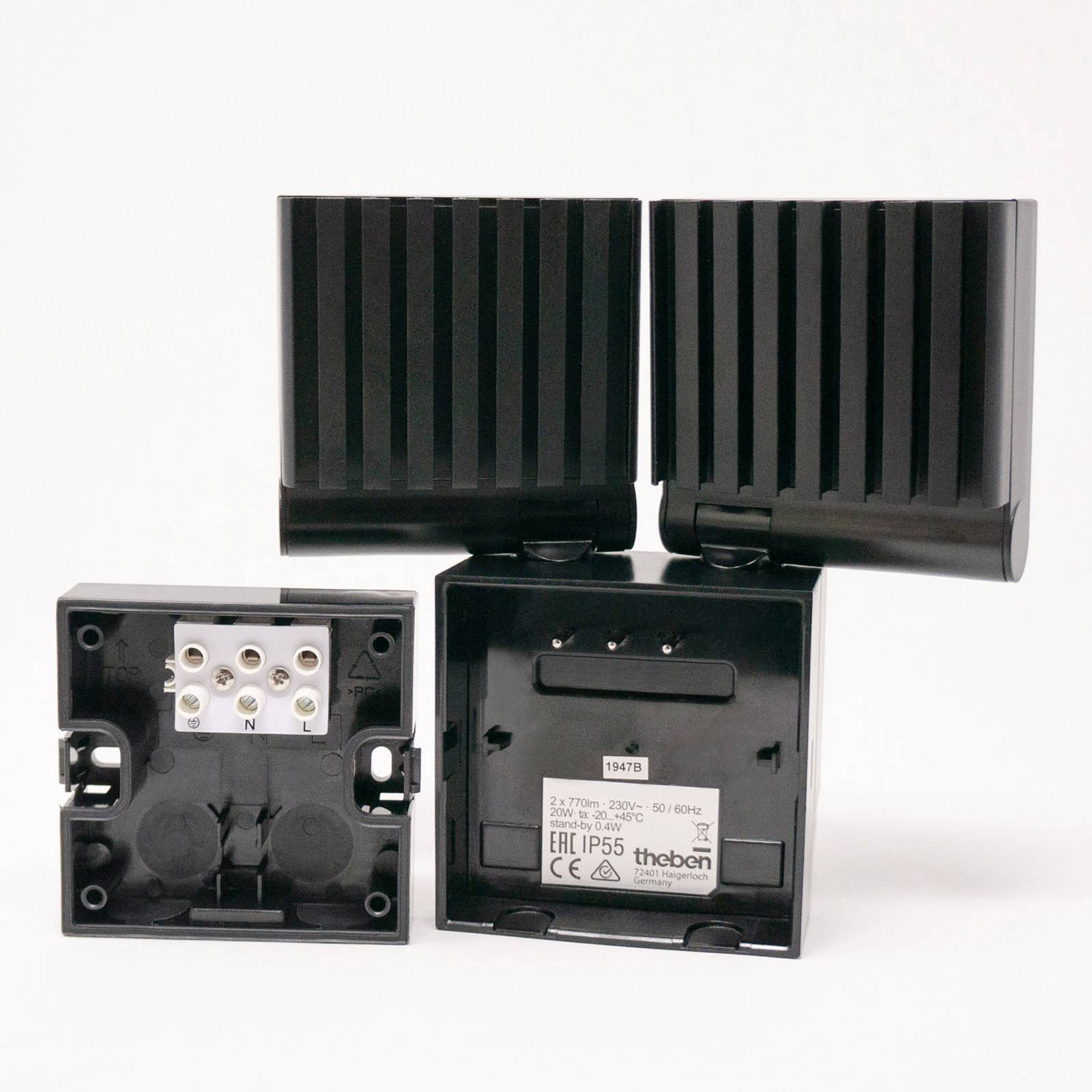 Theben theLeda S20 spot sensor 4 000 K svart