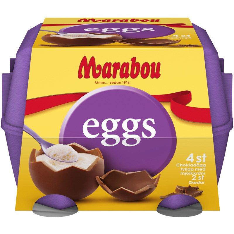 Marabou Ägg Mjölkkräm 4-pack - 42% rabatt