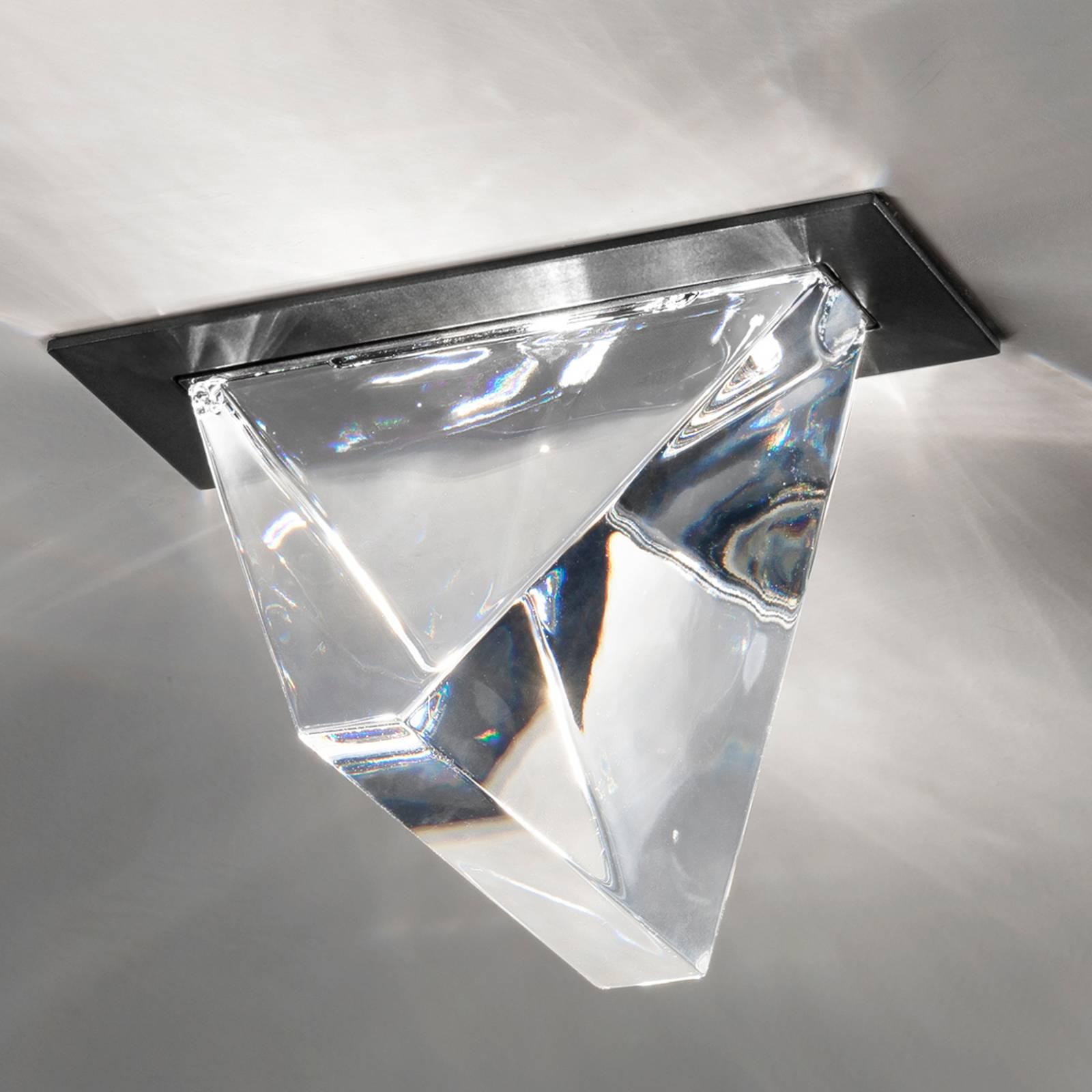 Fabbian Tripla -LED-kattouppovalaisin antrasiitti