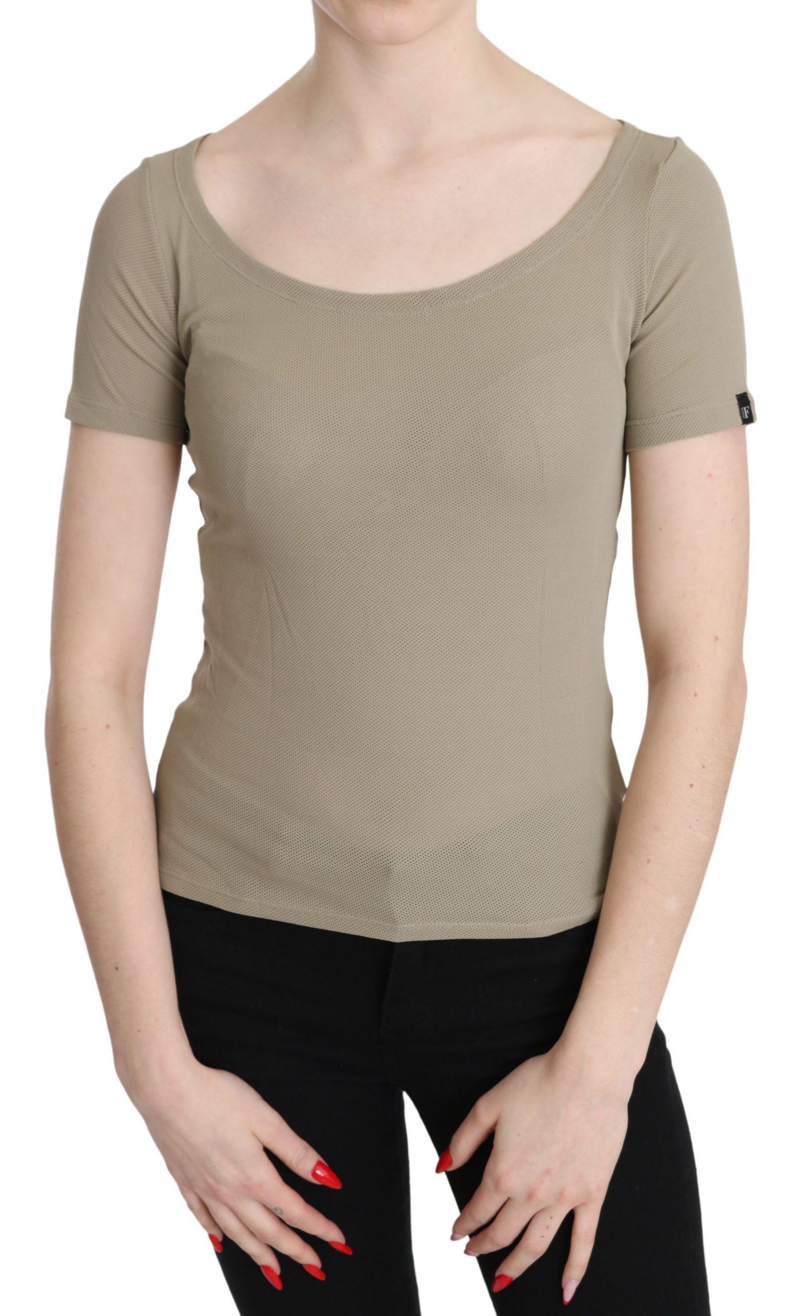 GF Ferre Women's Nylon SS Casual Top Gray TSH3423 - IT42|M