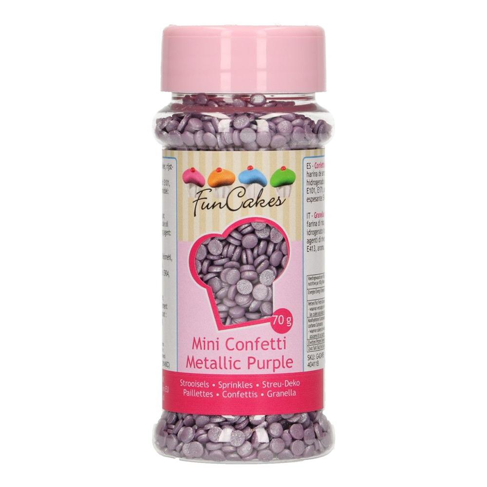 FunCakes Strössel Confetti Metallic Purple/Lila - 70 g
