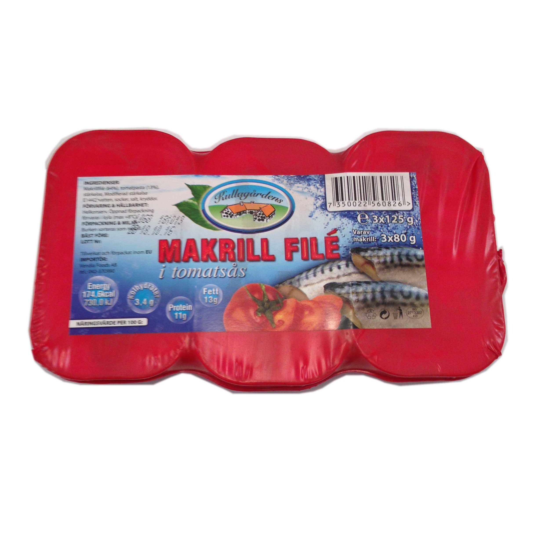 Makrillfilé Tomatsås 3-pack - 17% rabatt