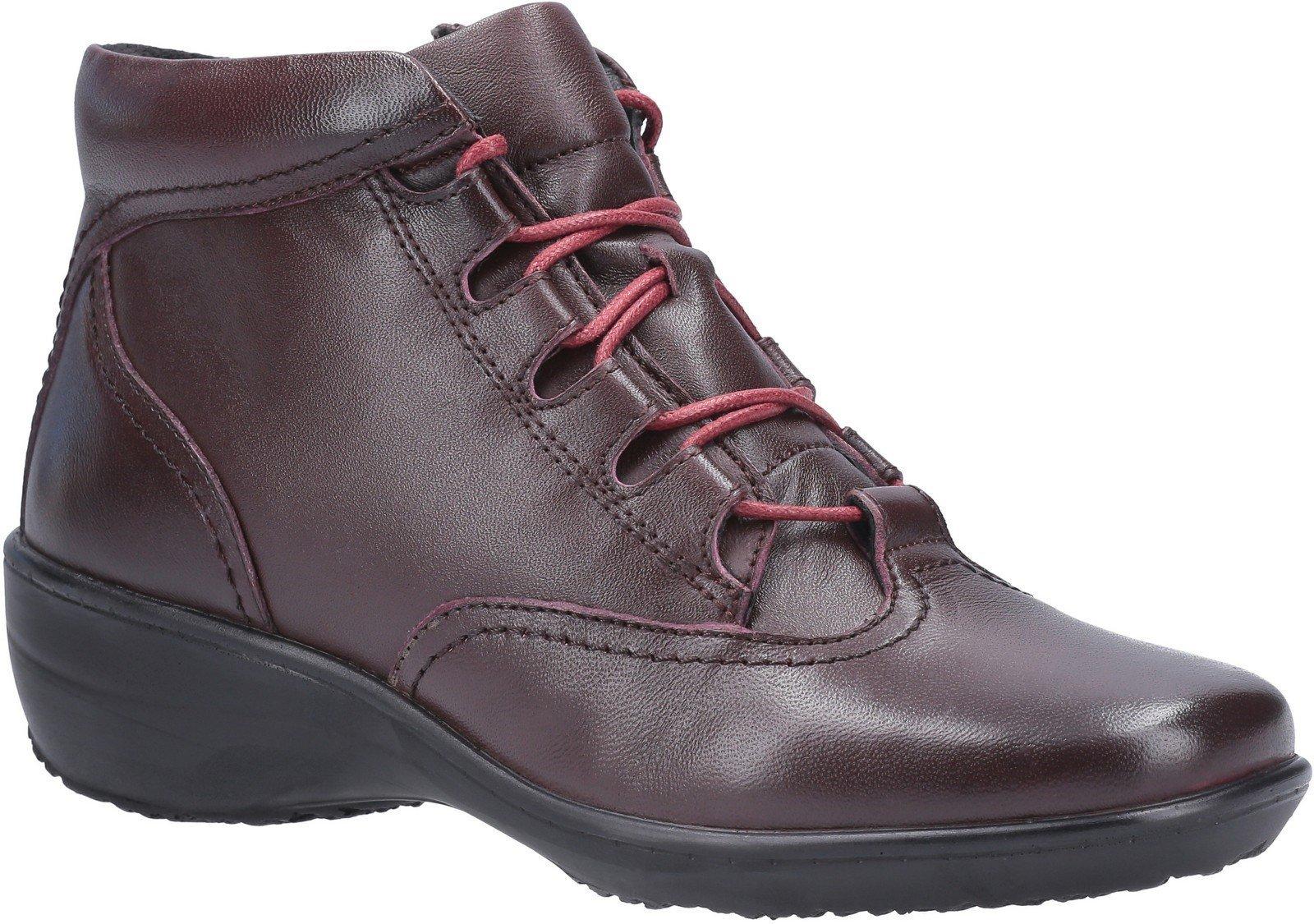 Fleet & Foster Women's Merle Lace Up Ankle Boot Black 29295-49581 - Burgundy 3