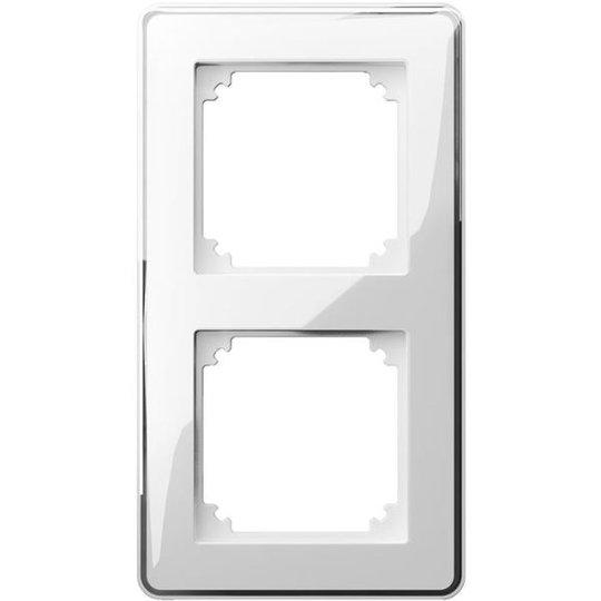 Schneider Electric Exxact Design Kehys läpinäkyvä, koristeellinen upotus 2-lokeroinen