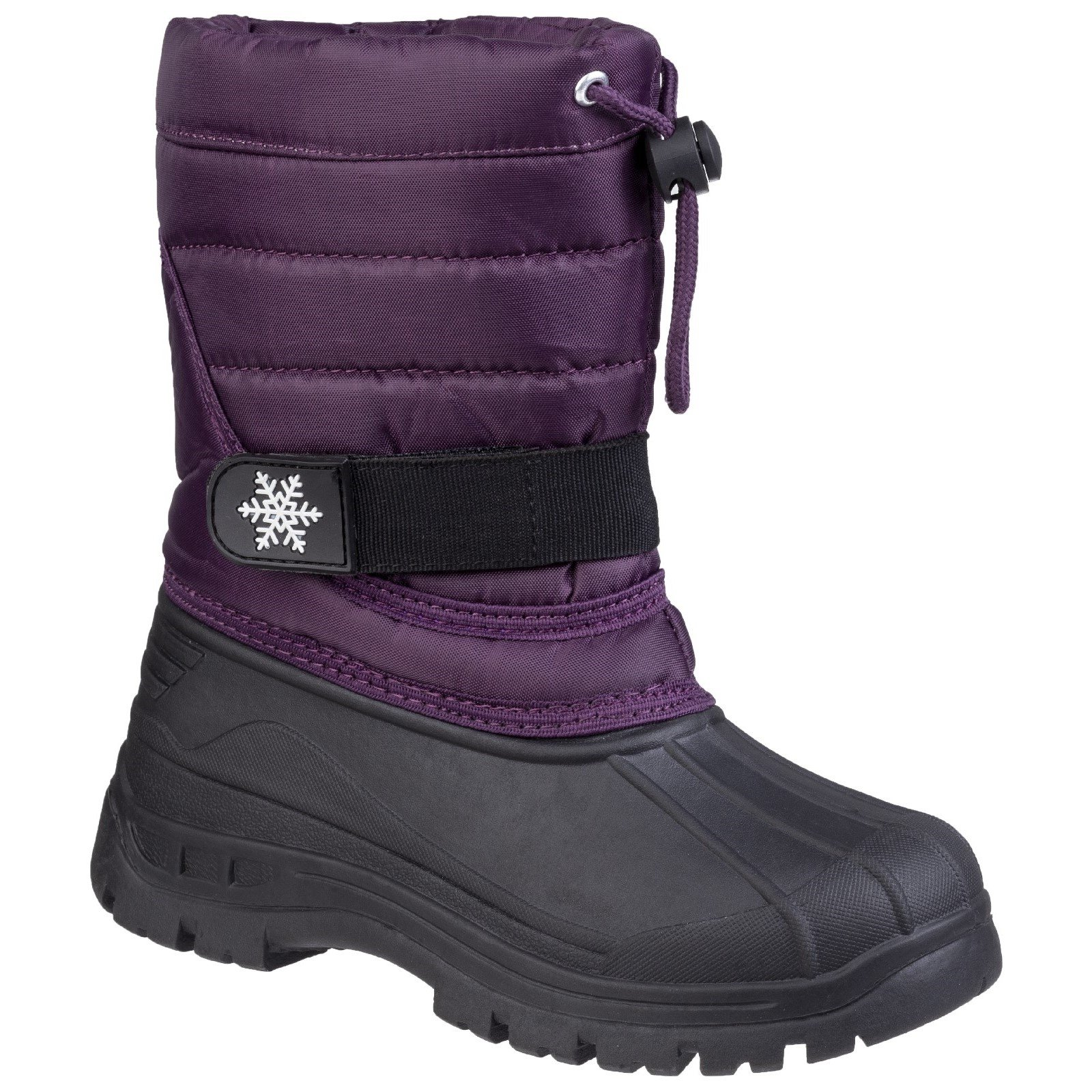 Cotswold Kid's Icicle Toggle Lace Snow Boot Various Colours 27946 - Purple 3