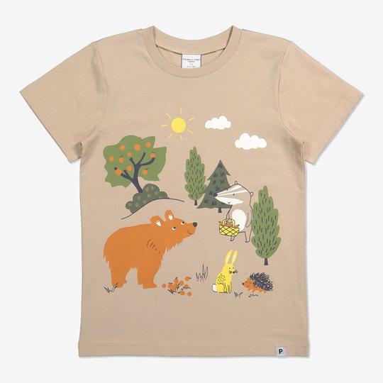 T-skjorte med trykk beige