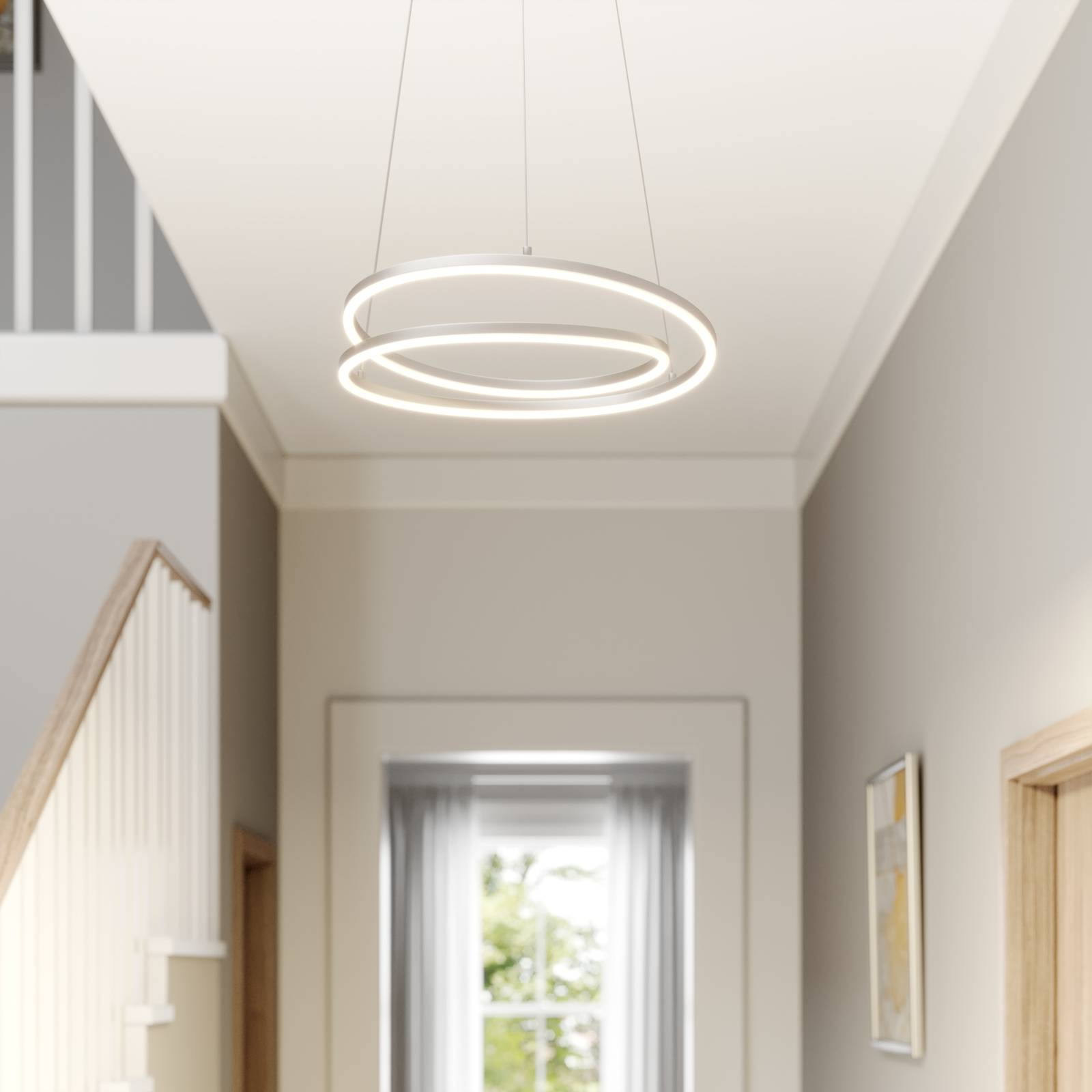 Lindby Davian LED-riippuvalaisin, nikkeli