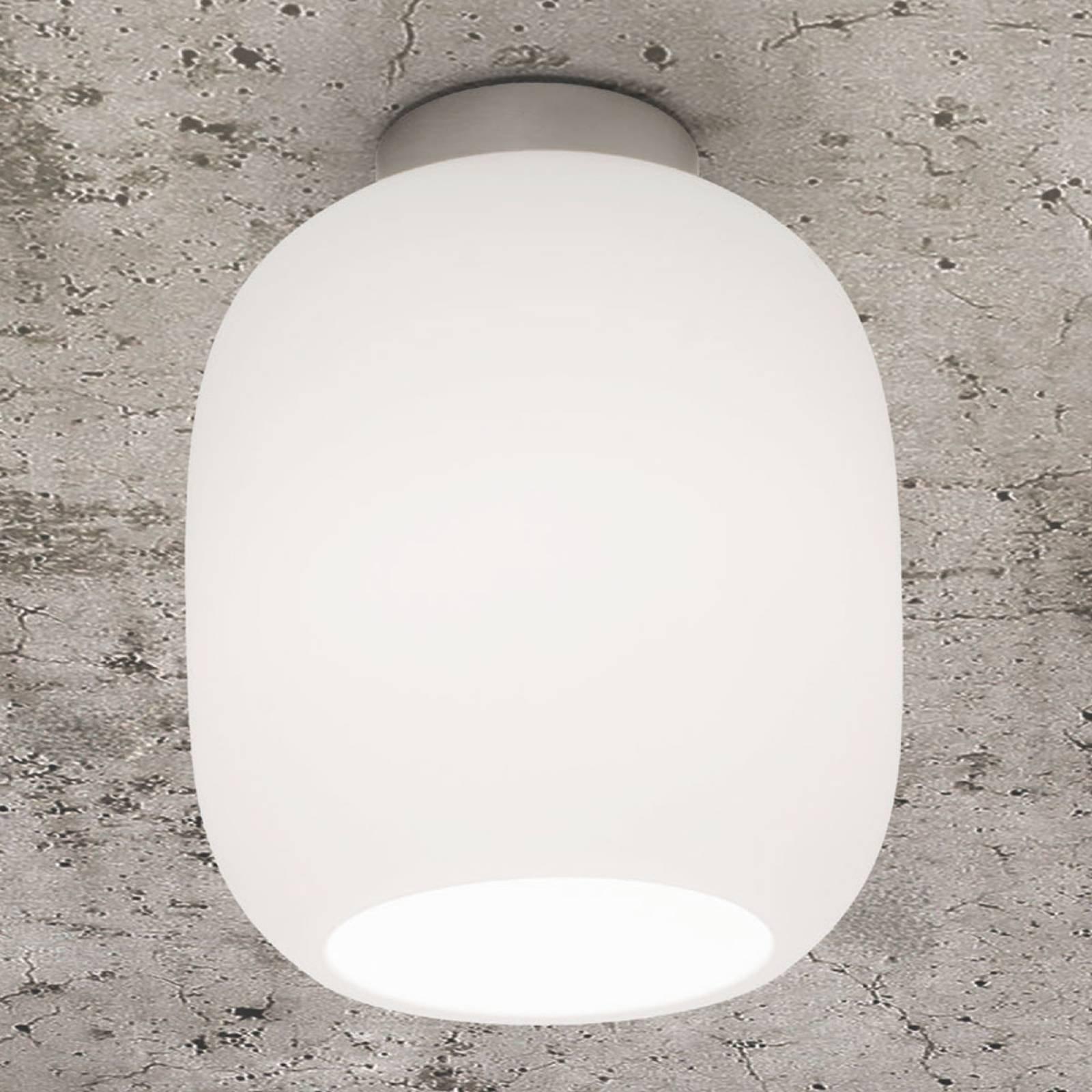 Casablanca Murea taklampe, opalhvit, Ø 13 cm