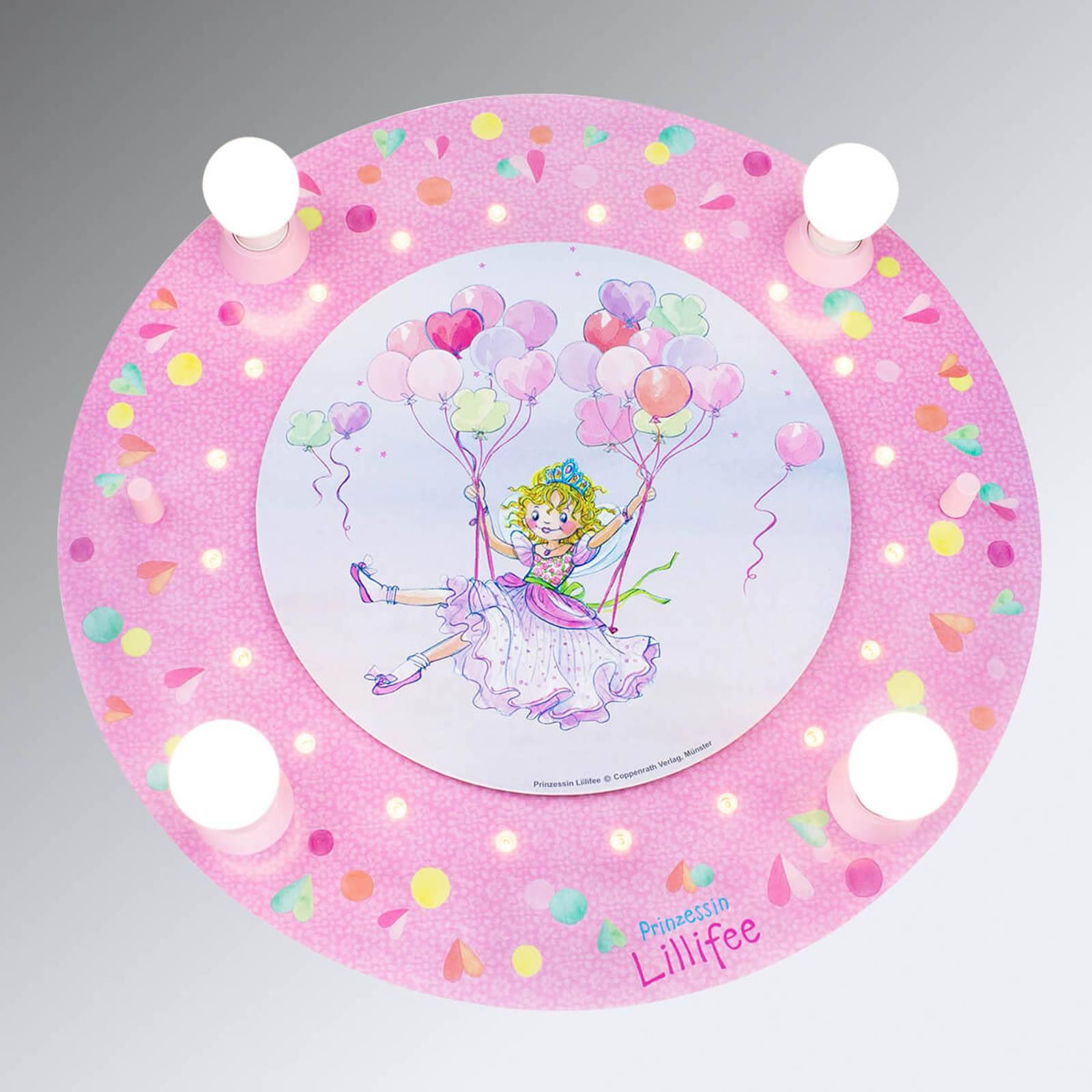 Prinsessa Lillifee LED-kattovalaisin, pyöreä
