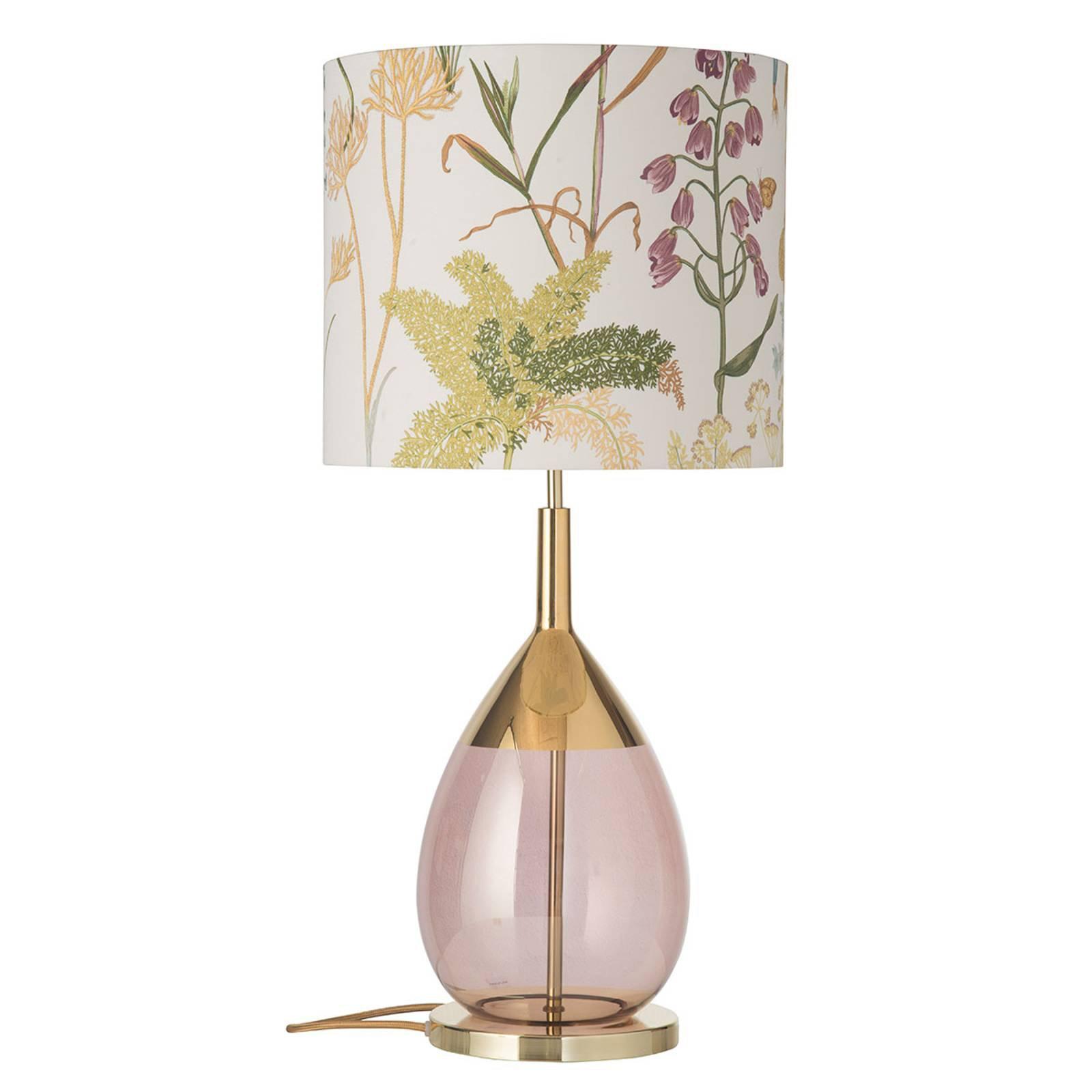 EBB & FLOW Lute bordlampe med skjerm, Botanical