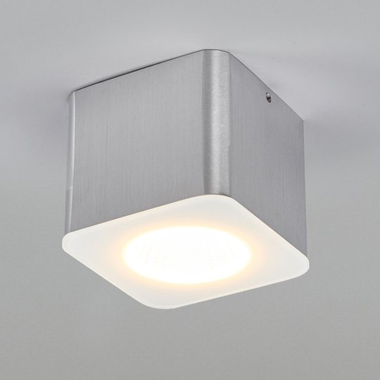 Helestra Oso LED kulmikas, matta alumiini