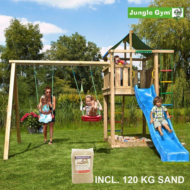 Jungle Gym Lodge lektorn komplett inkl. Swing 120 kg, Klätterställning