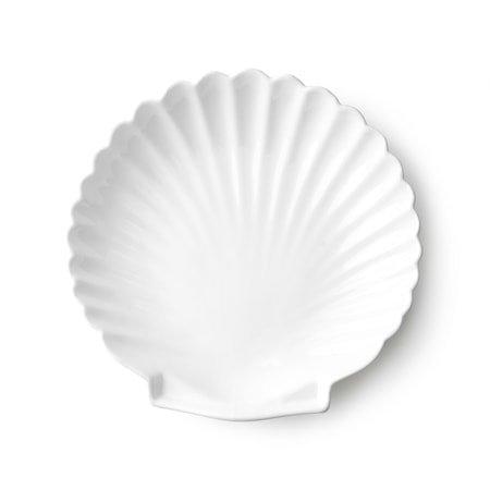 Athena Ceramics Shell Brikke Hvit L