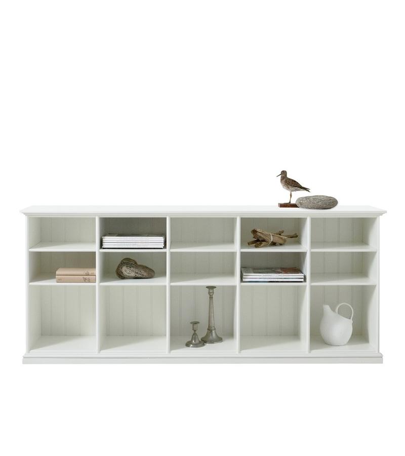 Låg hylla Seaside fem sektioner, Oliver Furniture