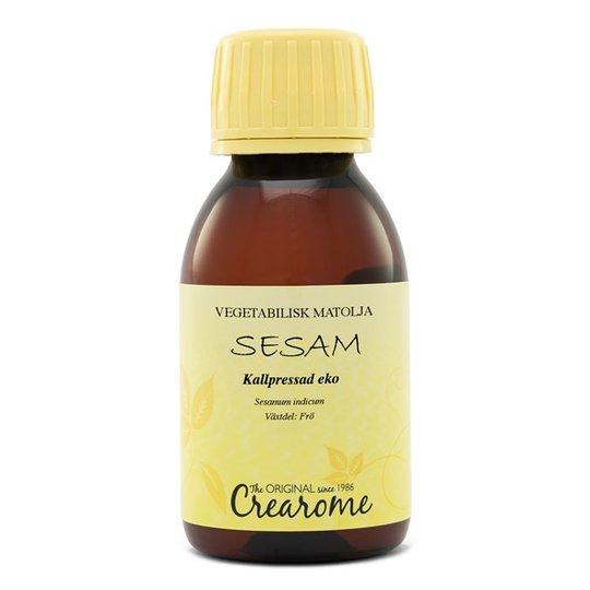 Crearome Ekologisk Sesamolja Kallpressad, 100 ml