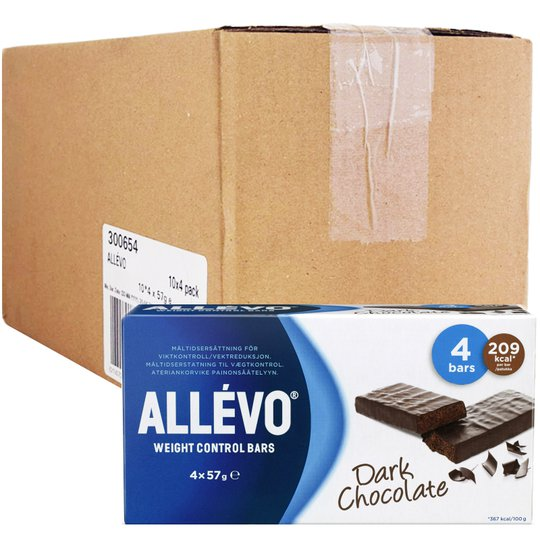 "Hel Låda Mealbars ""Dark Chocolate"" 40 x 57g - 74% rabatt"