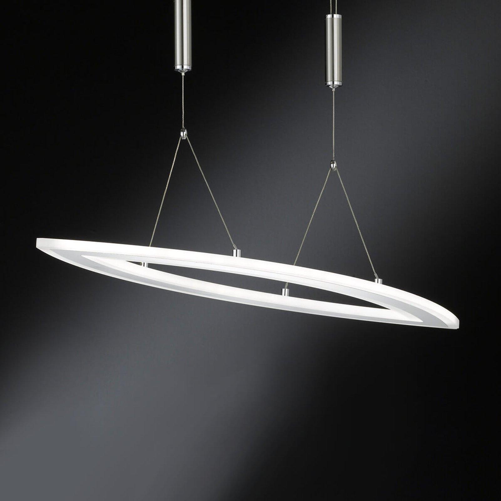 Dimbar, høydejusterbar LED-pendellampe Nevil
