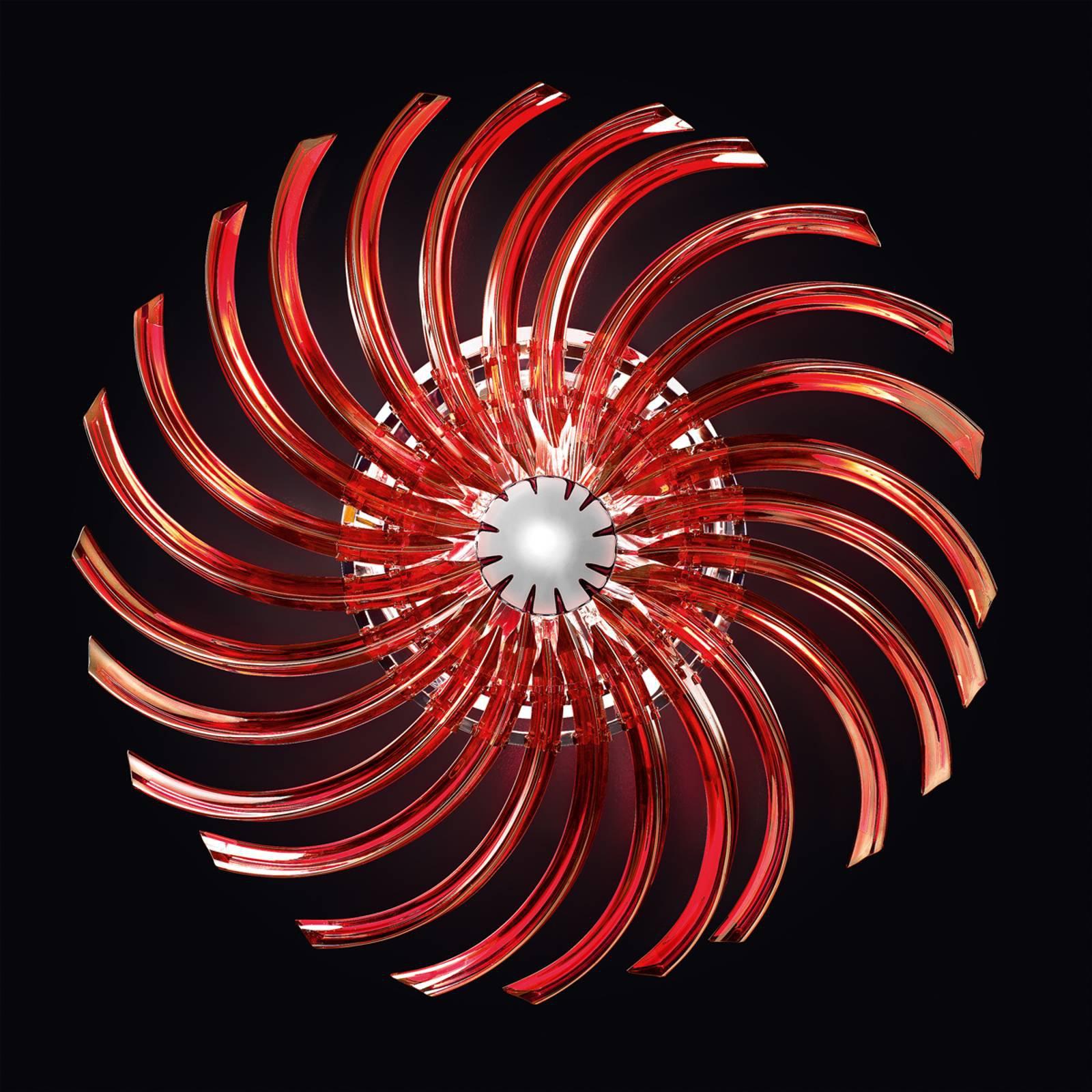 RONDO rød taklampe av Muranoglass