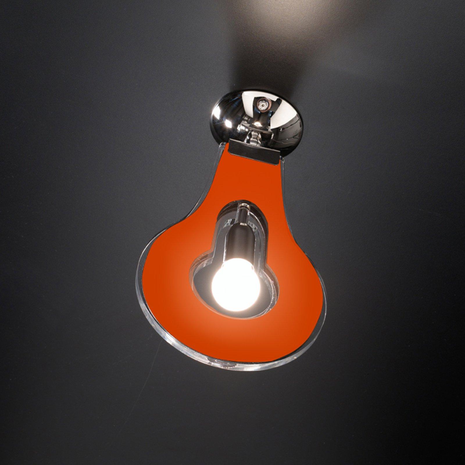 Trendy taklampe Flat oransje