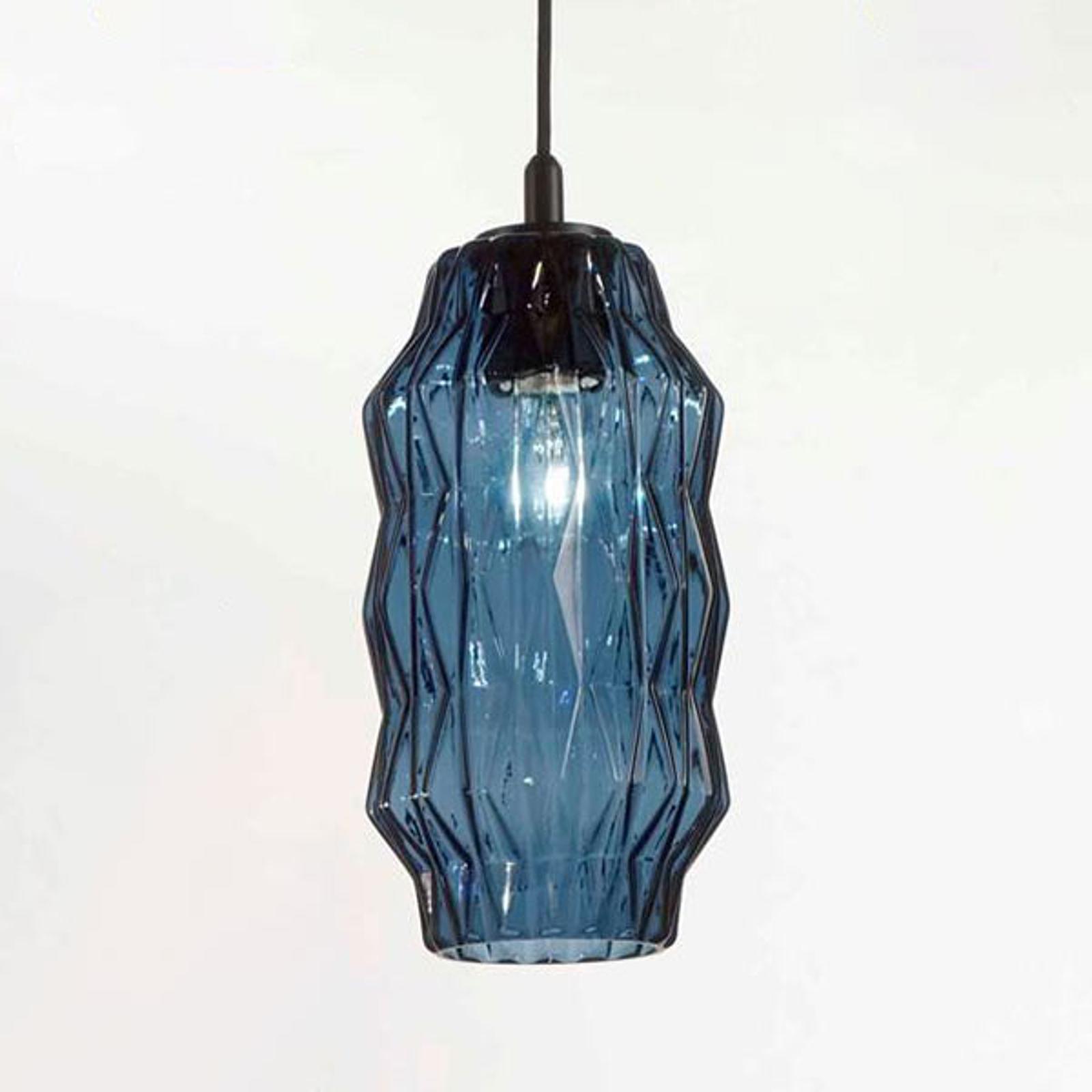 Riippuvalaisin Origami lasista, sininen