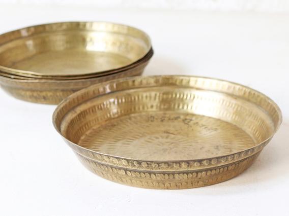 Vintage Brass Plate Gold