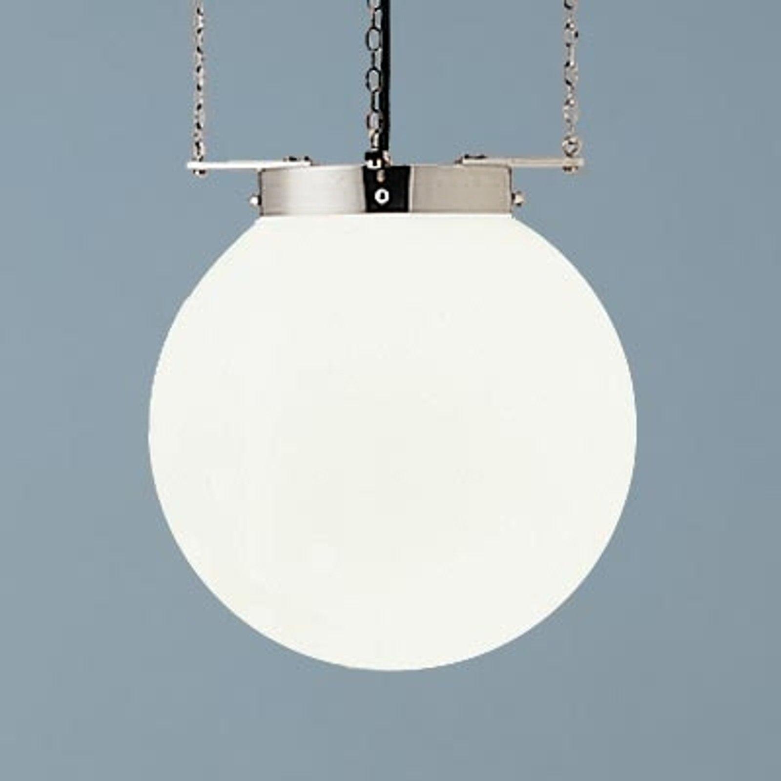 Hengelampe i Bauhaus-stil nikkel 30 cm