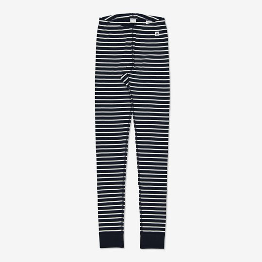 Stripet bukse voksen mørkblå