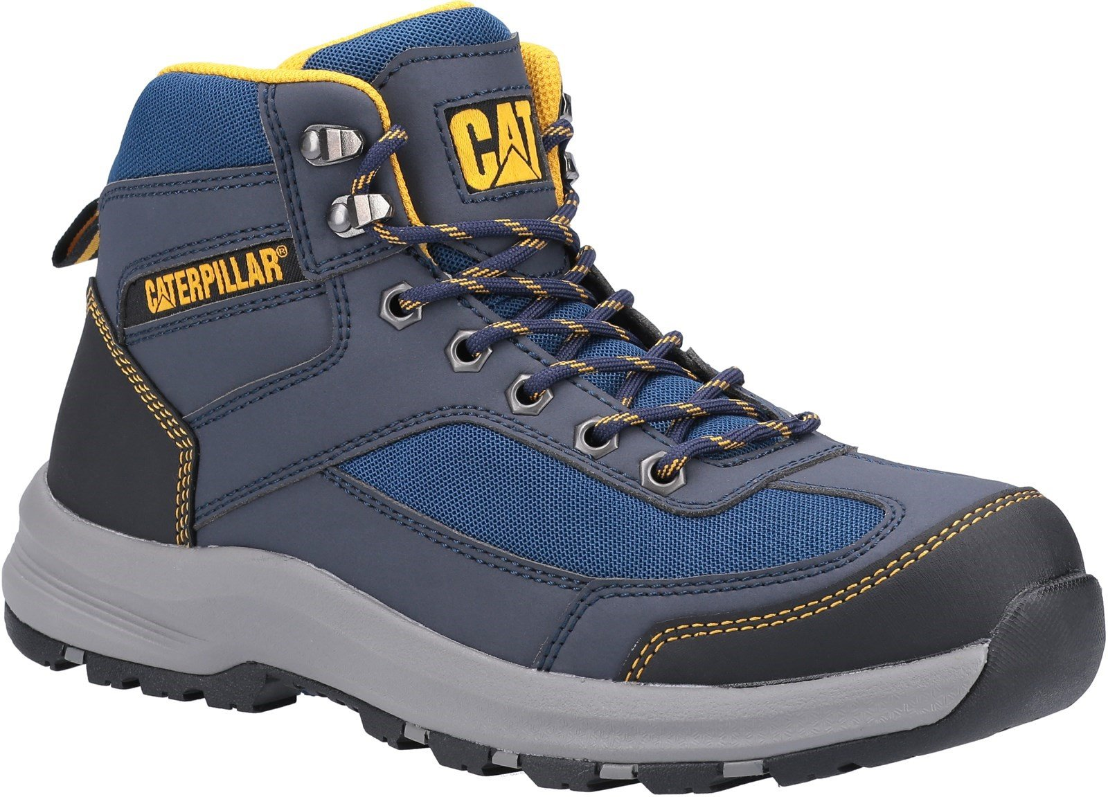 Caterpillar Unisex Elmore Mid Safety Hiker Boot Various Colours - Navy 6
