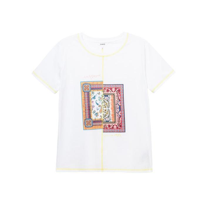 Desigual Women's T-Shirt White 205326 - white S