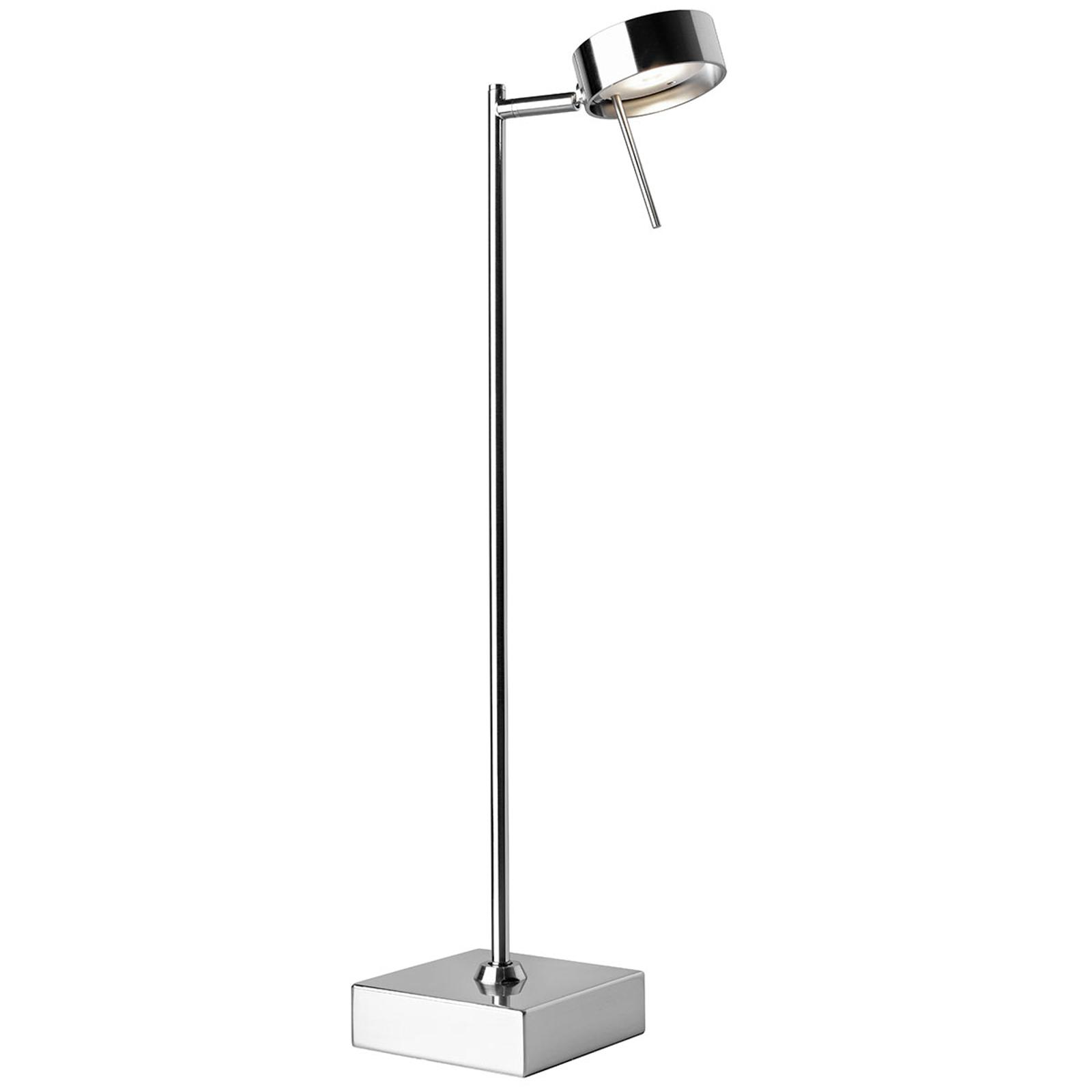 LED-pöytälamppu Bling, säädettävä, kromi