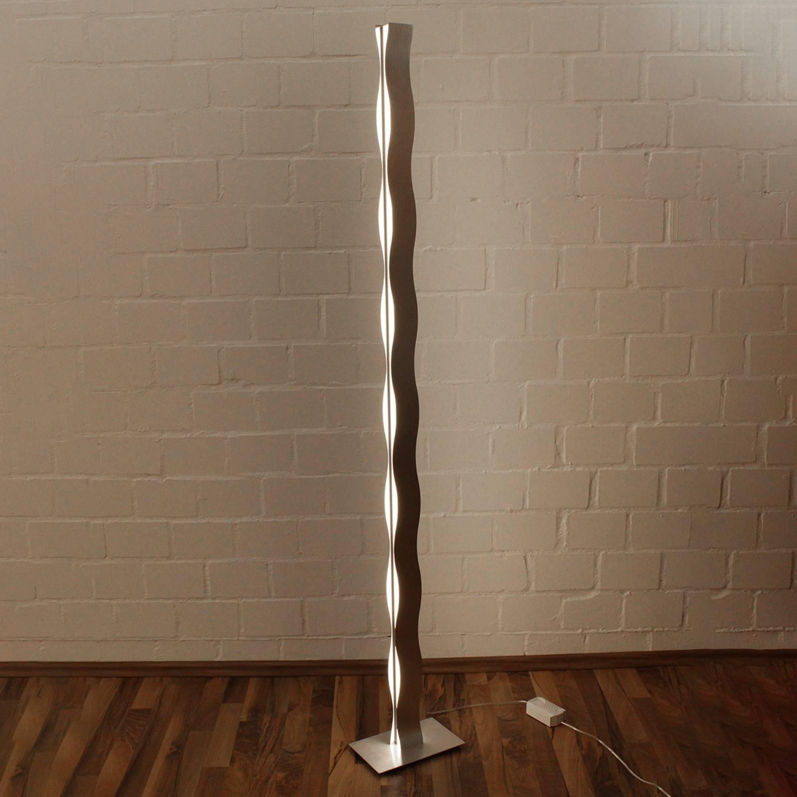 LED-lattiavalaisin Wave, nikkeli