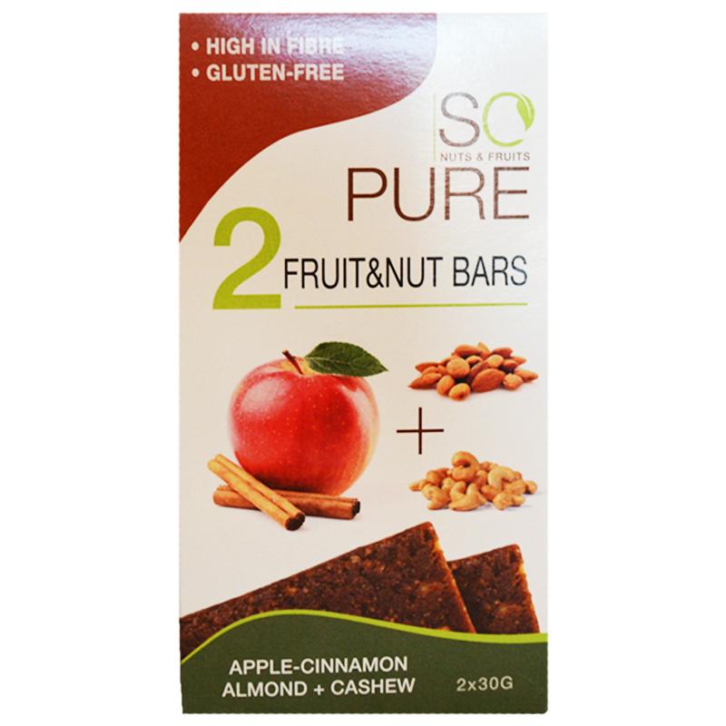 """Nötbars """"Apple & Cinnamon"""" 2 x 30g - 86% rabatt"""