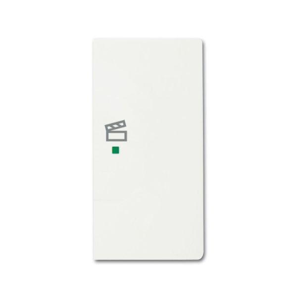 ABB Future Linear 6220-0-0613 Yksiosainen vipupainike tilanneohjaus, valkoinen Oikea