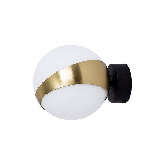 Vegglampe Parcel, hvit/messing