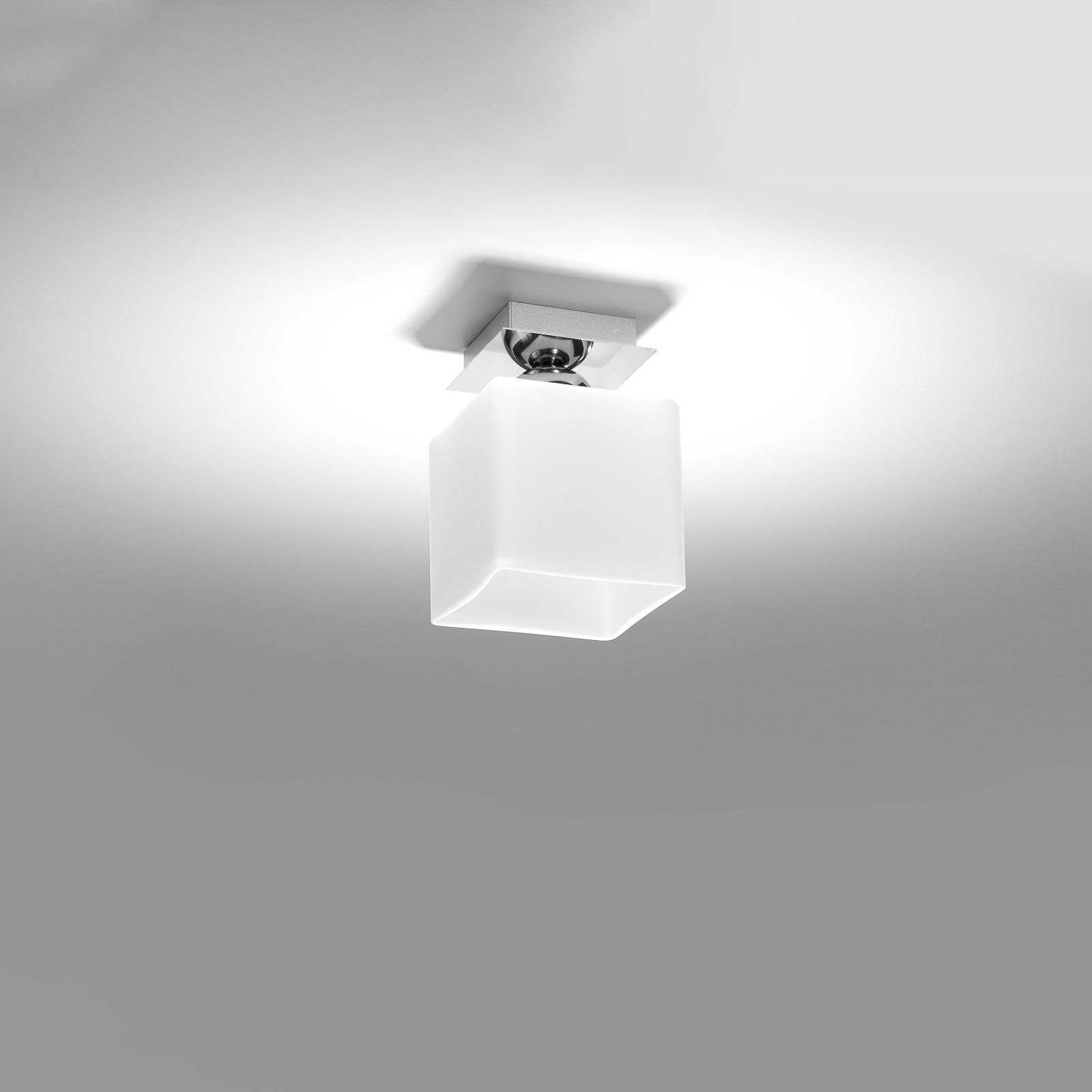 Kattovalaisin Block, opaali/kromi, yksilamppuinen