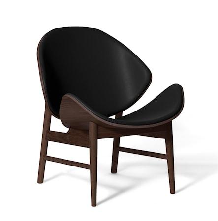The Orange Lounge Chair Svart läder Smoked Ek
