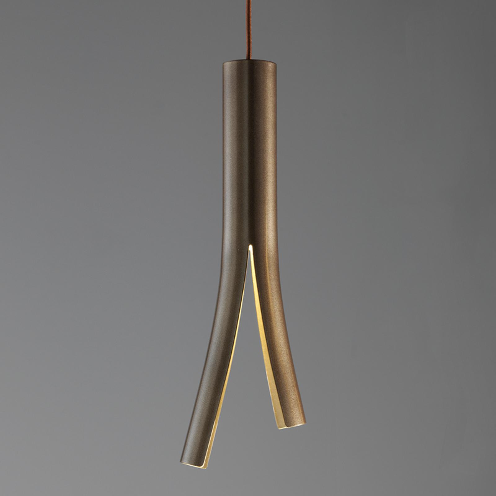 LED-seinävalaisin Olmo, riippuva, pronssi-kulta