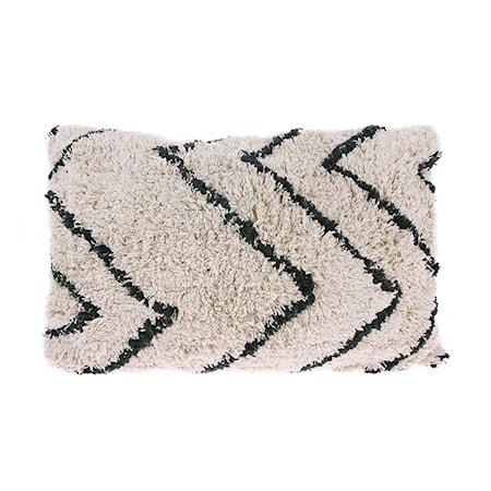 Kudde Bomull Zigzag Svart/Vit 40x60 cm